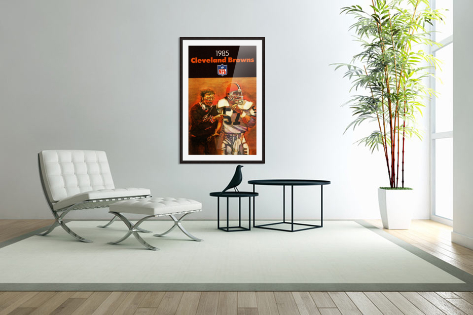 1985 Cleveland Browns Football Poster in Custom Picture Frame