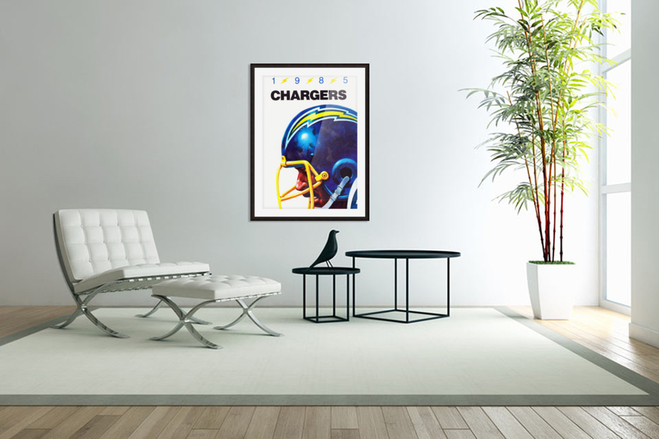 1985 San Diego Chargers Football Poster in Custom Picture Frame