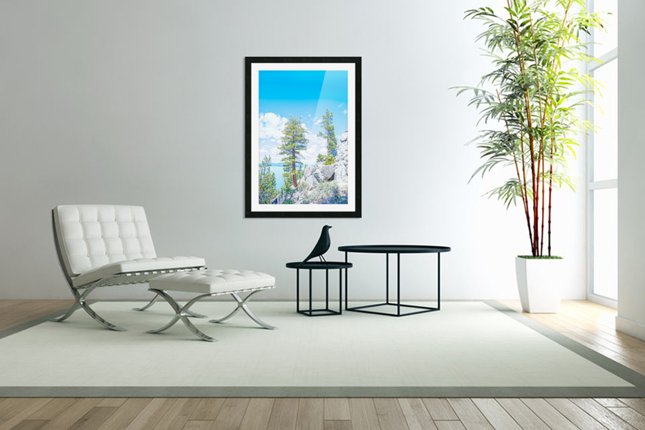 Top of the Mountain in Custom Picture Frame