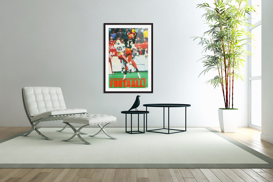 1985 Syracuse Orange Football Poster in Custom Picture Frame