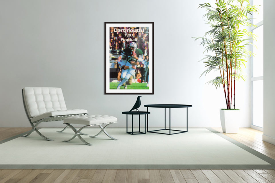 1987 Dartmouth Big Green Football Poster in Custom Picture Frame
