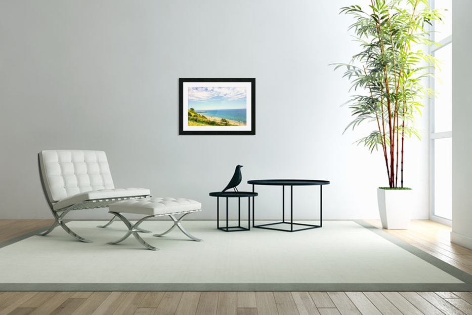 The Southern Coast of England in Custom Picture Frame