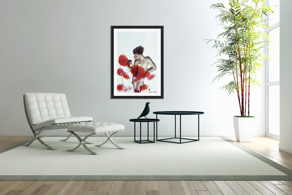Red in Custom Picture Frame