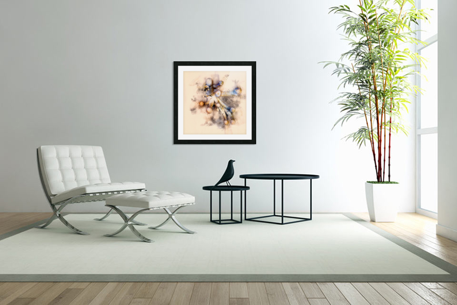 Tasty Mushroom Abstract in Custom Picture Frame