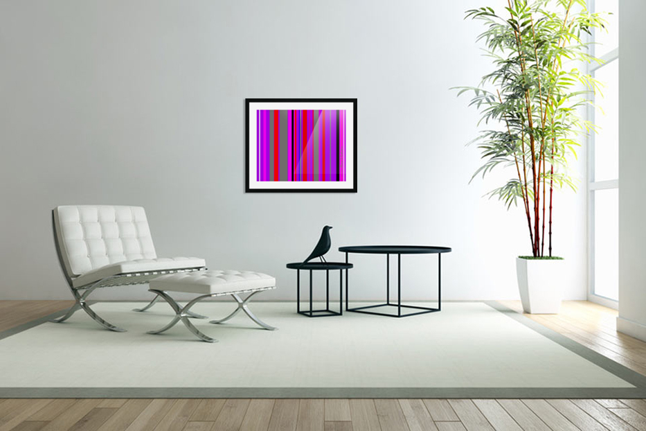 Color Bars 4 in Custom Picture Frame
