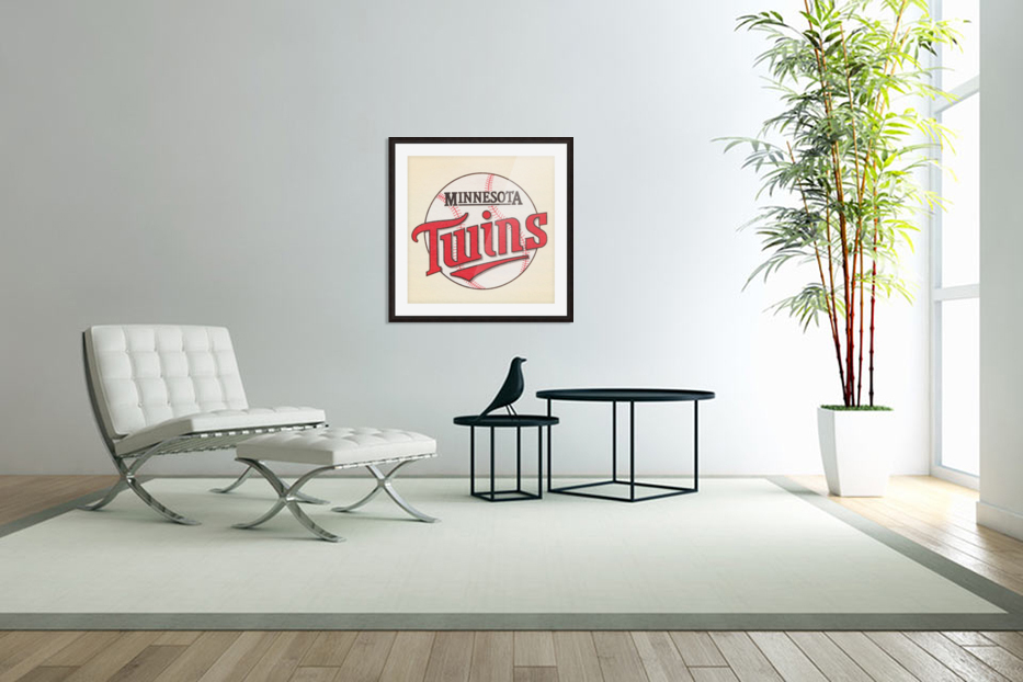 1988 Minnesota Twins Art in Custom Picture Frame