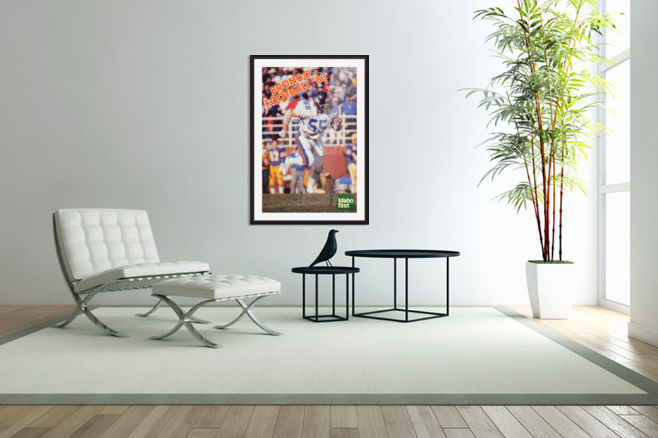 1983 Boise State Broncos Carl Keever Football Poster in Custom Picture Frame