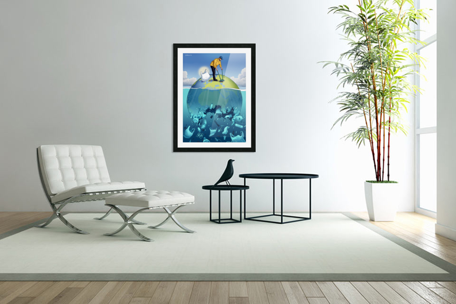 Clean the Planet in Custom Picture Frame