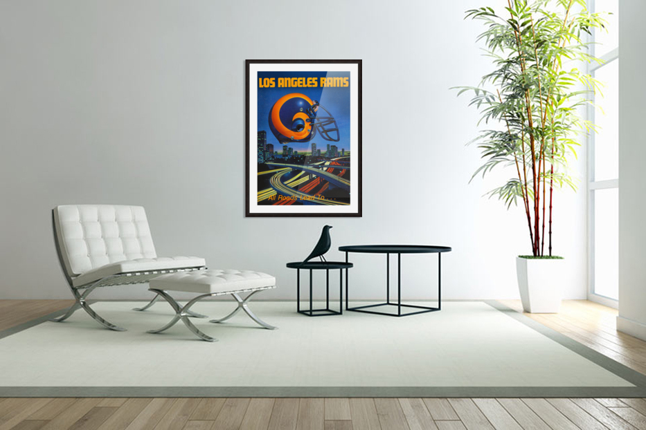 1983 Los Angeles Rams Football Poster in Custom Picture Frame