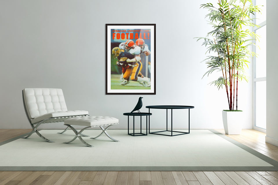 1986 Syracuse Football Poster in Custom Picture Frame