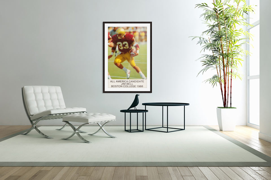 1988 Boston College Football Poster in Custom Picture Frame