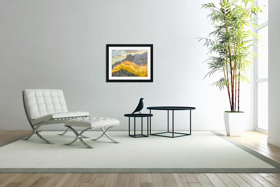 Golden Rays of the Sun Across the Swiss Alps in Custom Picture Frame