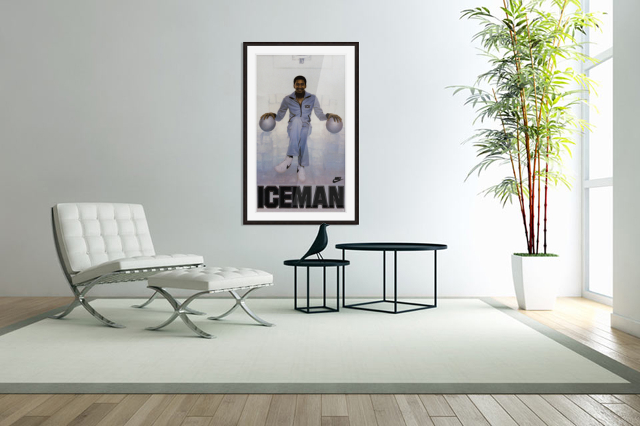 1982 George Gervin Nike Iceman Poster in Custom Picture Frame