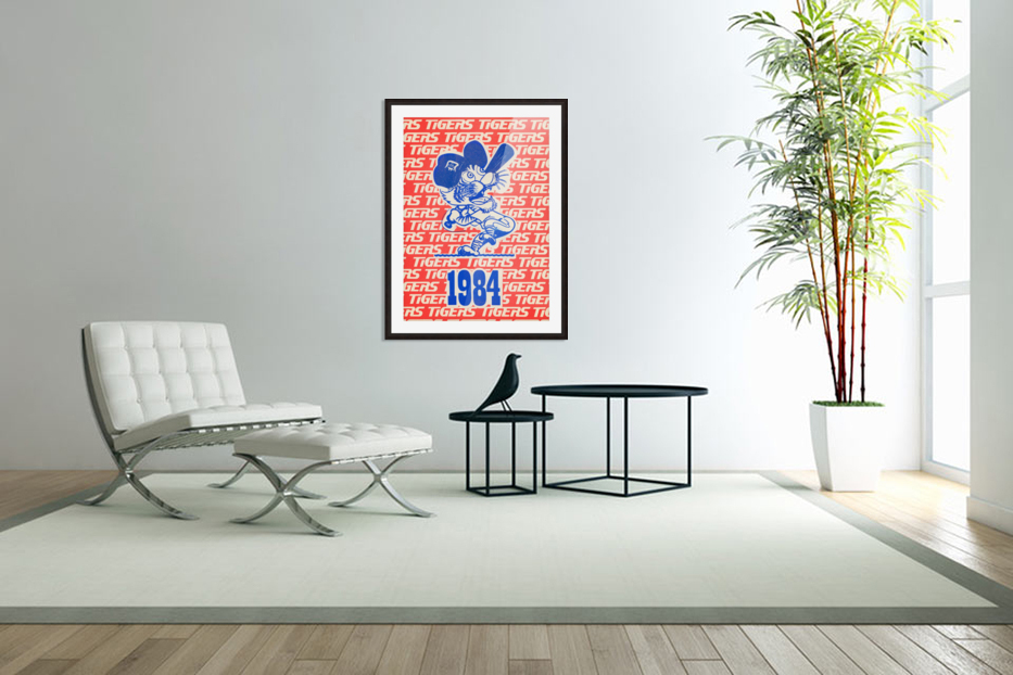 1984 Detroit Tigers Baseball Poster in Custom Picture Frame