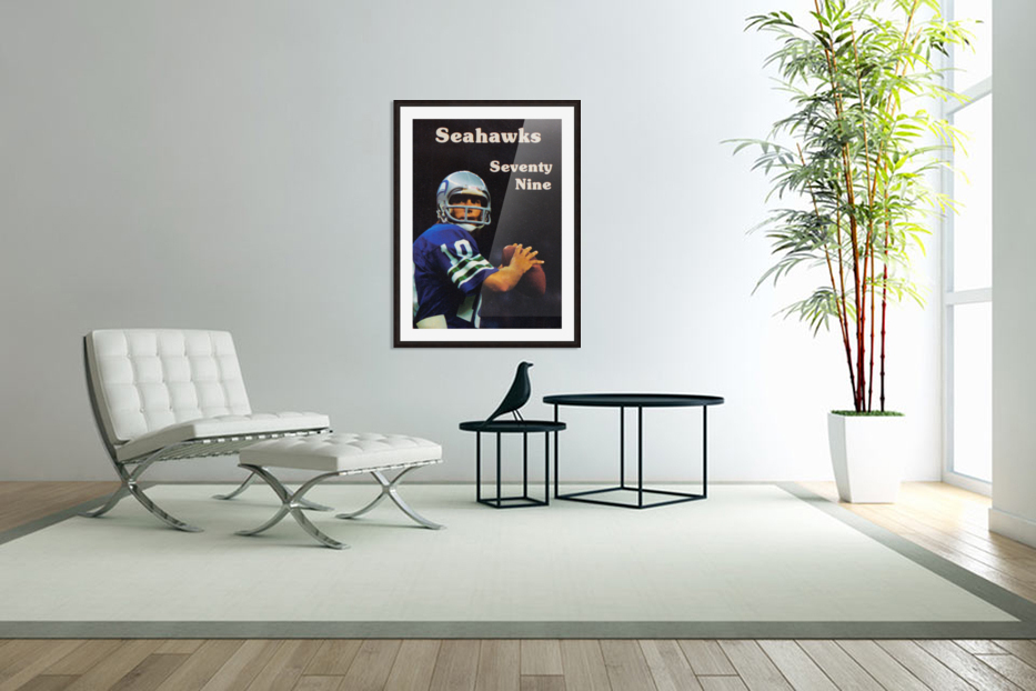 1979 Seattle Seahawks Jim Zorn Poster in Custom Picture Frame