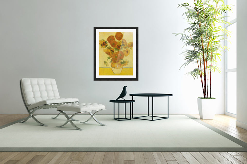 Still life with sunflowers by Van Gogh in Custom Picture Frame