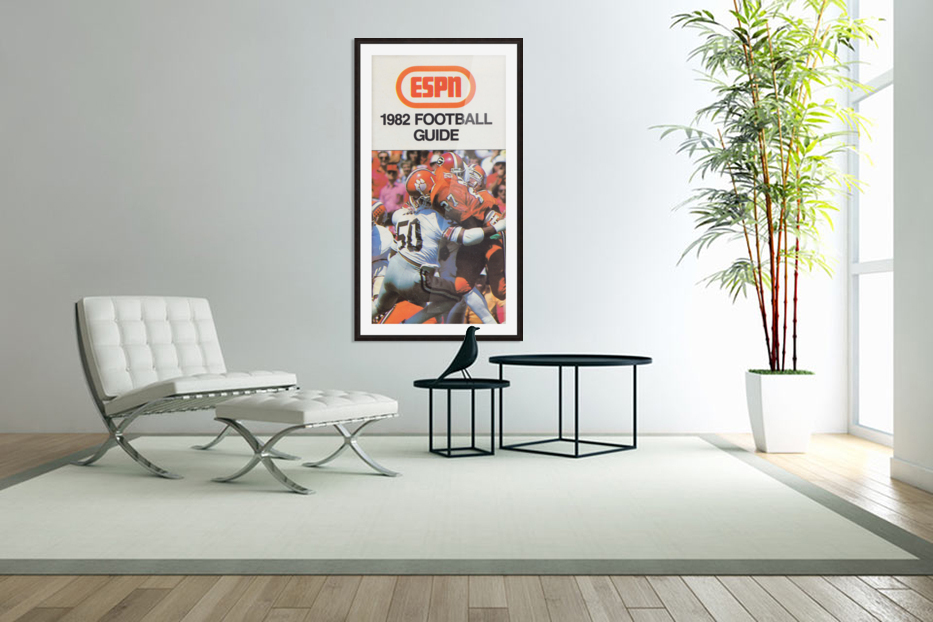 1982 ESPN College Football Guide Poster in Custom Picture Frame