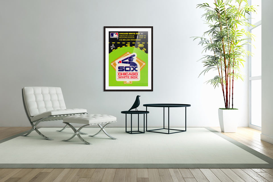1980 Chicago White Sox Fleer Decal Wall Art in Custom Picture Frame