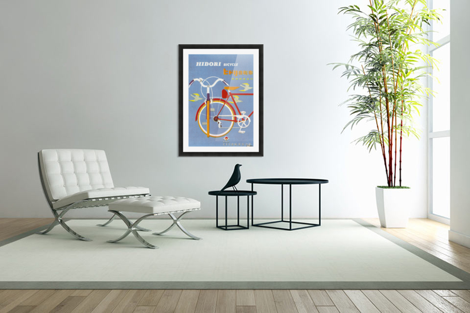 Bicycle Hidori in Custom Picture Frame