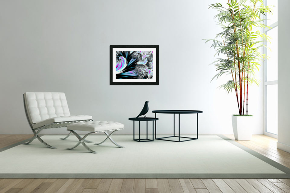 Abstract background waves. in Custom Picture Frame