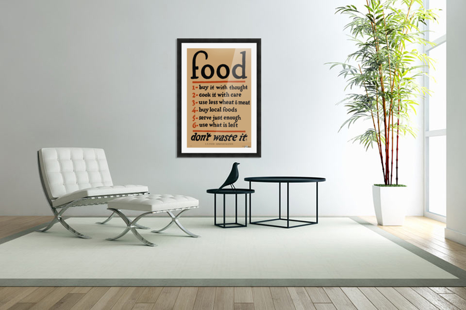 Food Poster in Custom Picture Frame