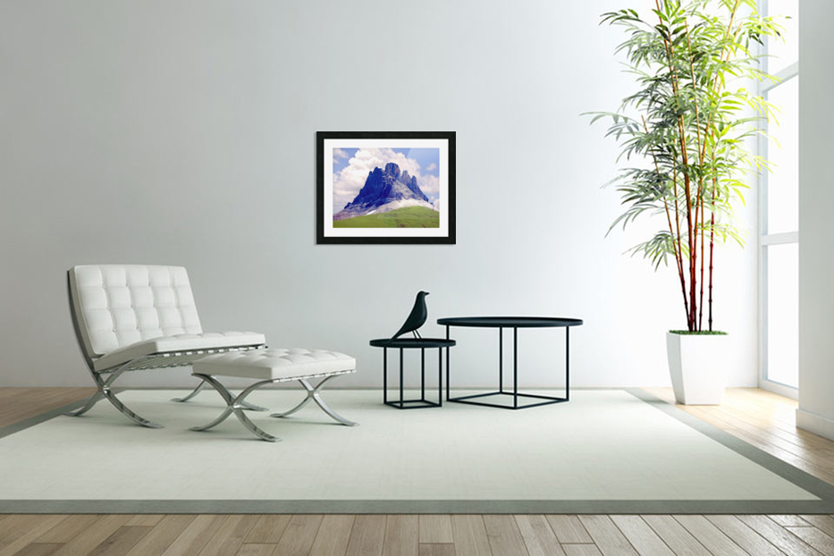Mountain Peak in the Swiss Alps in Custom Picture Frame