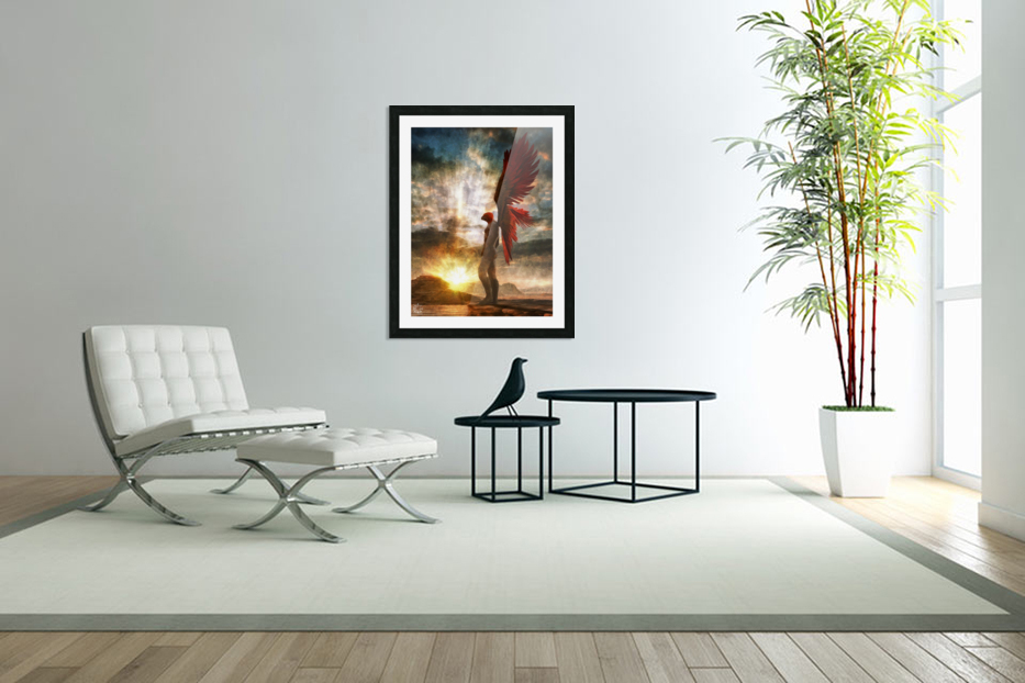 Horus Watching Part 1 in Custom Picture Frame