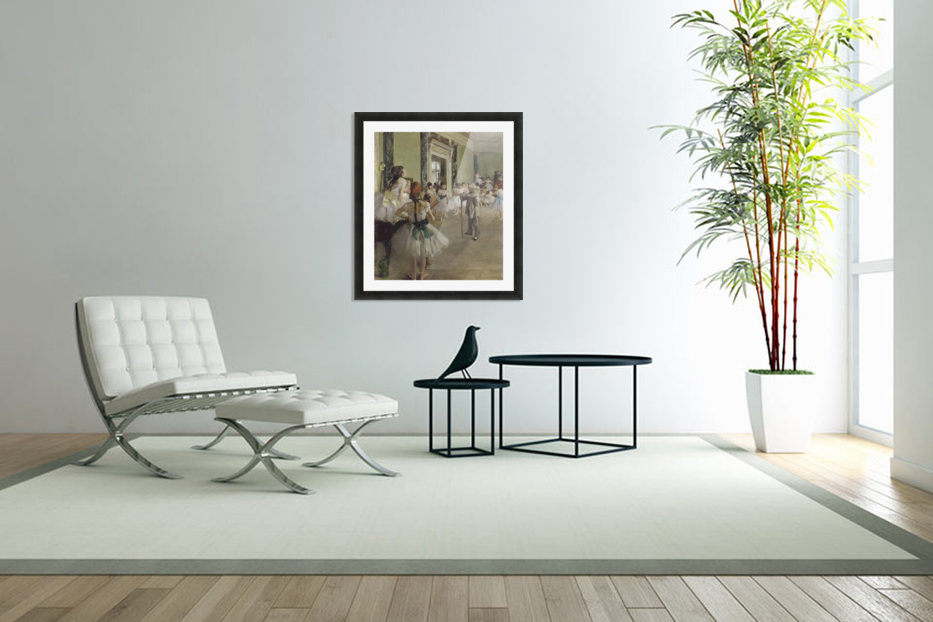 The Ballet Class by Degas in Custom Picture Frame