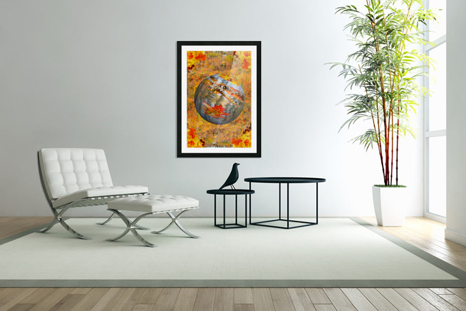 Abstract - Autumn II in Custom Picture Frame