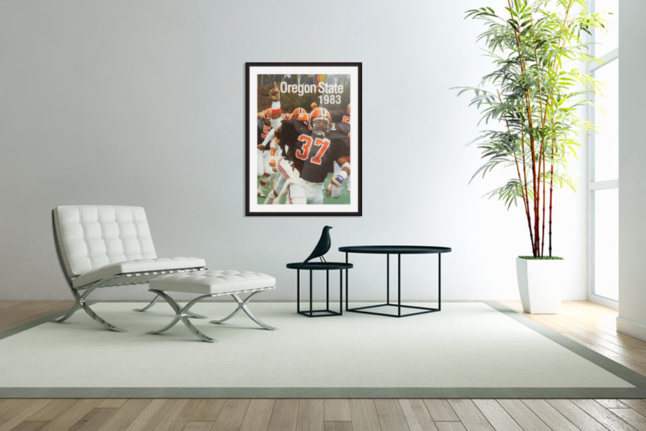 1983 Oregon State Beavers Football Poster in Custom Picture Frame