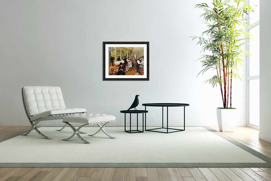 The cotton exchange by Degas in Custom Picture Frame
