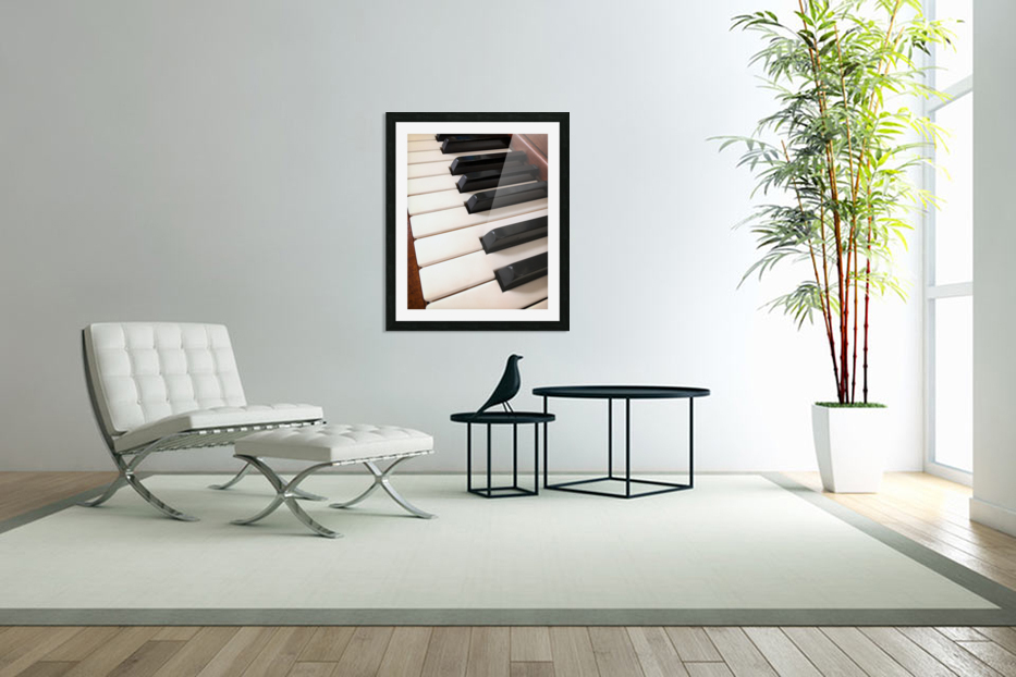 Piano Keys One Octave Plus in Custom Picture Frame
