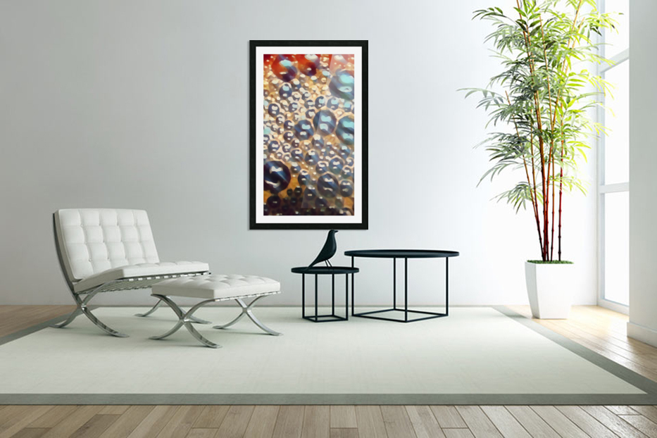 coffee bubbles art in Custom Picture Frame