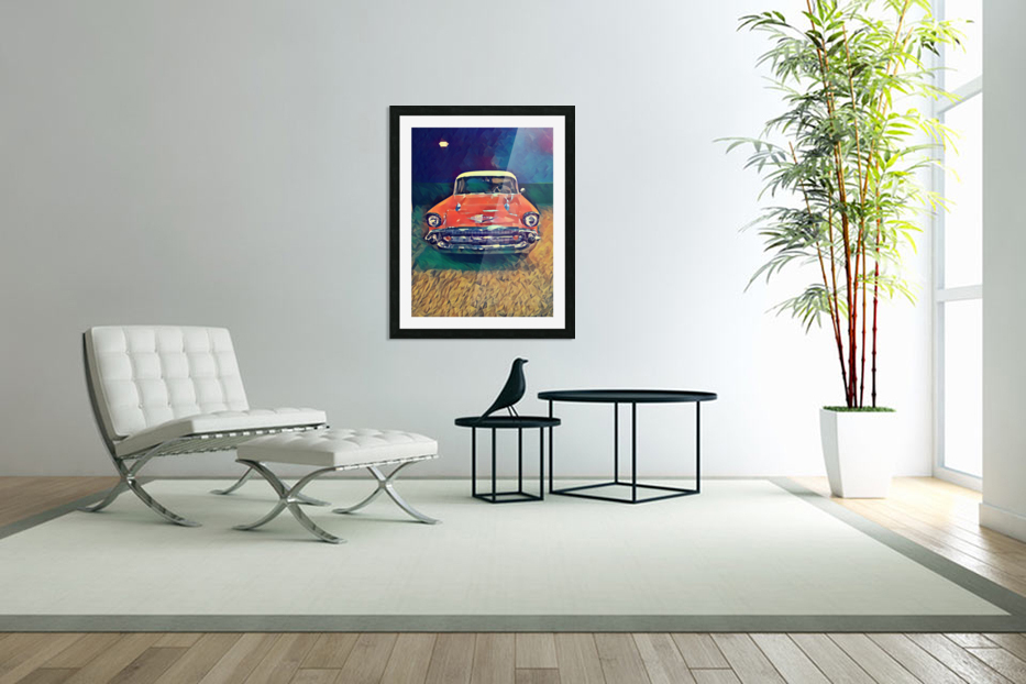 57 chevy car art in Custom Picture Frame