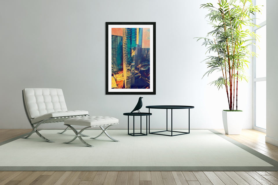 las vegas reflections in Custom Picture Frame