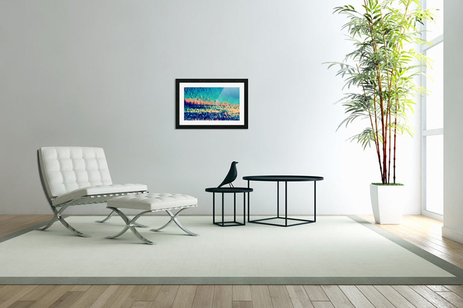 abstract blue sky ocean in Custom Picture Frame
