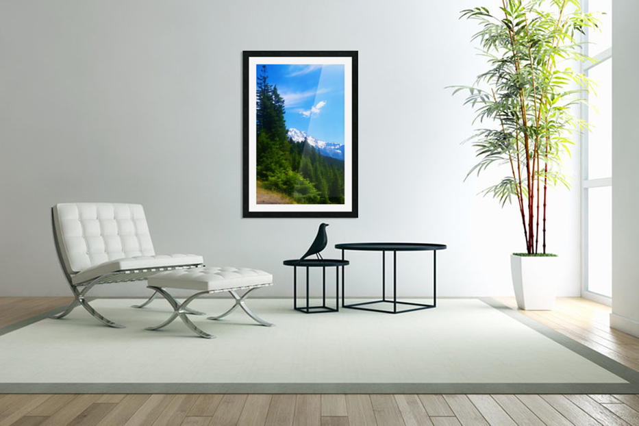 washington state mountains in Custom Picture Frame