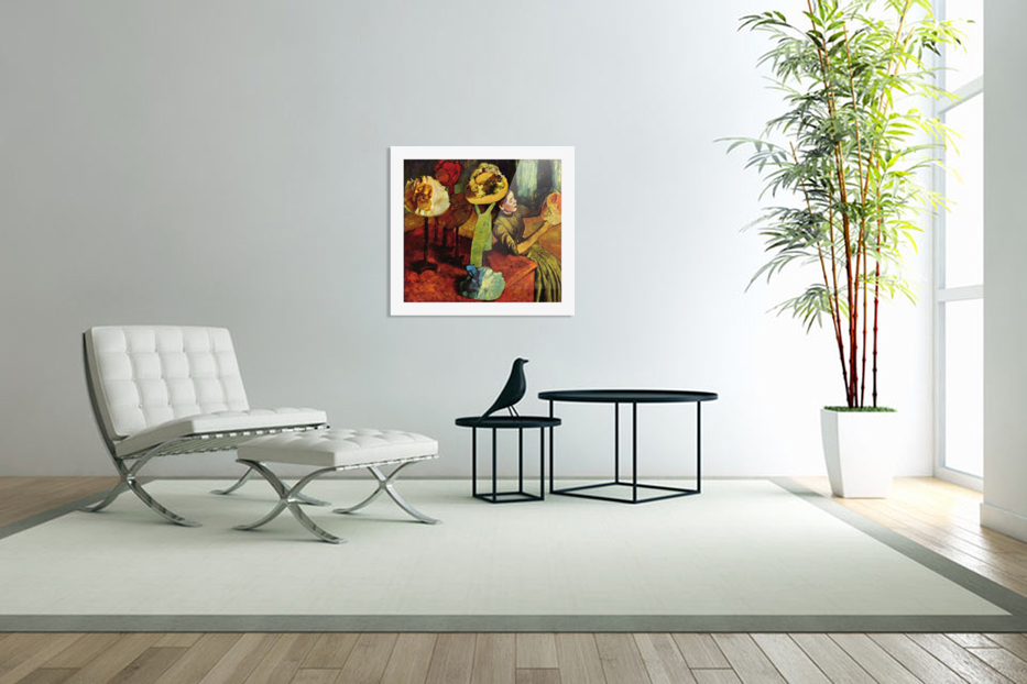 The fashion shop by Degas in Custom Picture Frame