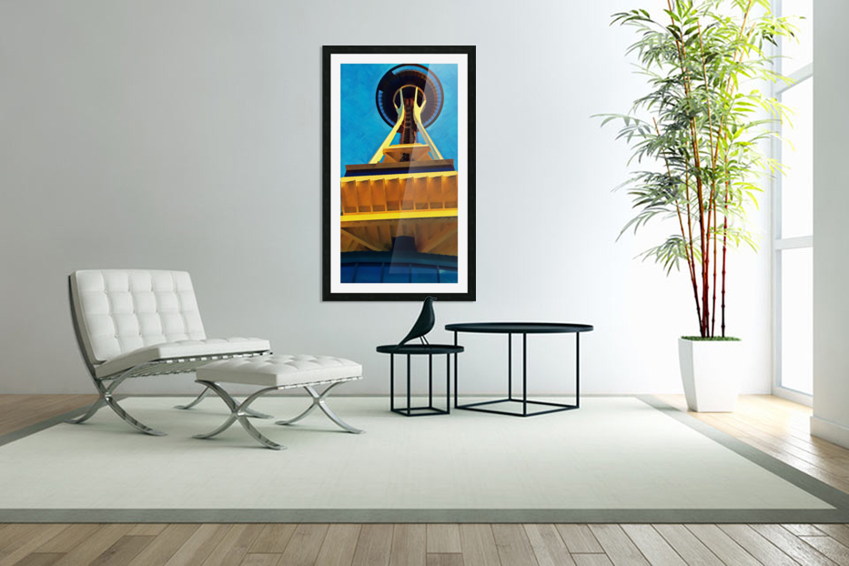 seattle space needle abstract in Custom Picture Frame