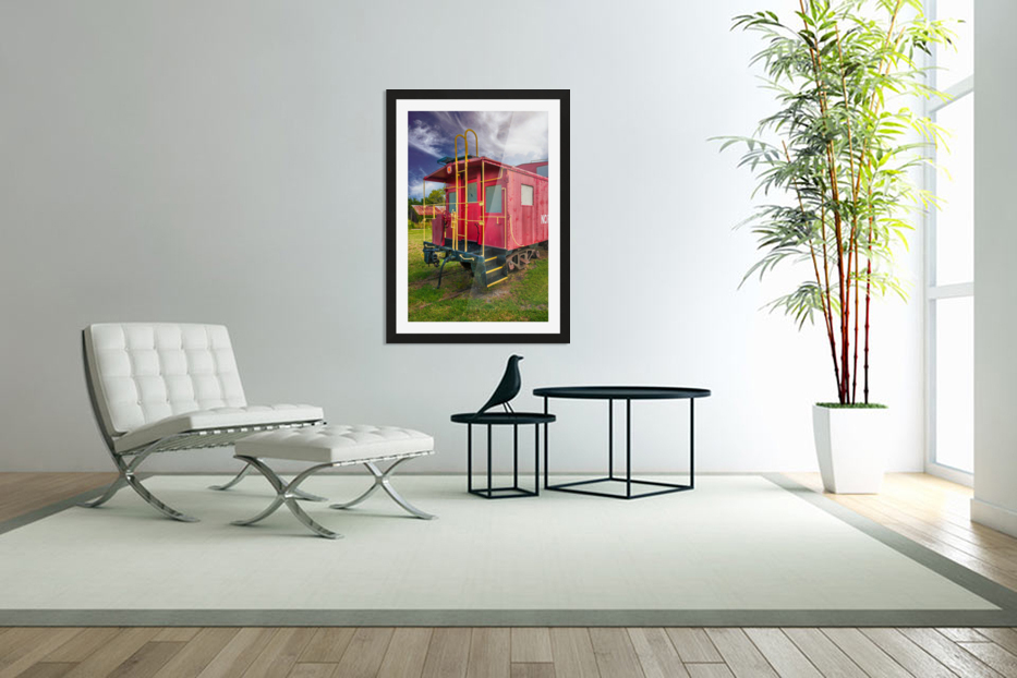Caboose in Custom Picture Frame