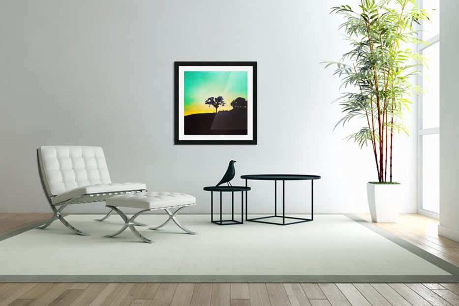 hill tree in Custom Picture Frame