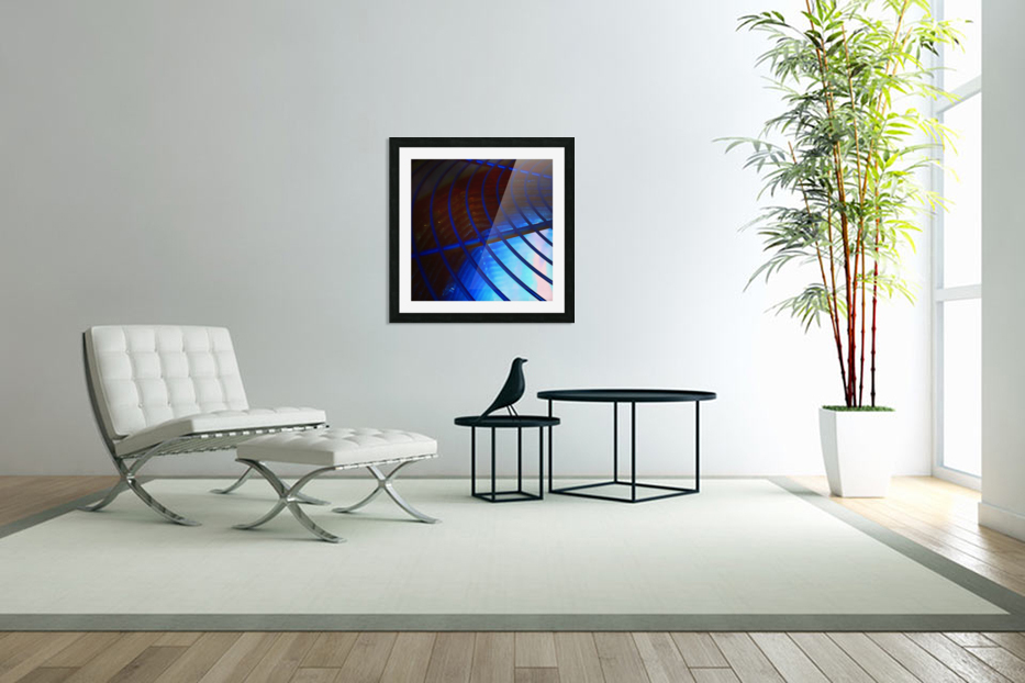 abstract blue curved lines in Custom Picture Frame
