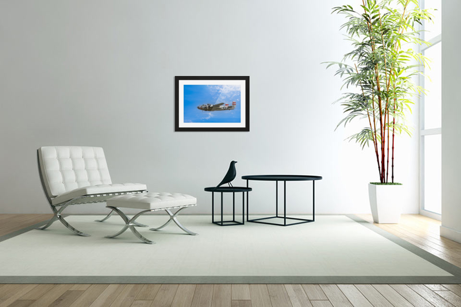 Panchito B25 In Flight in Custom Picture Frame