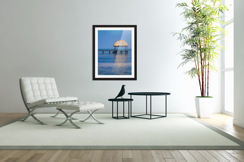 Ambergris Caye 2 in Custom Picture Frame