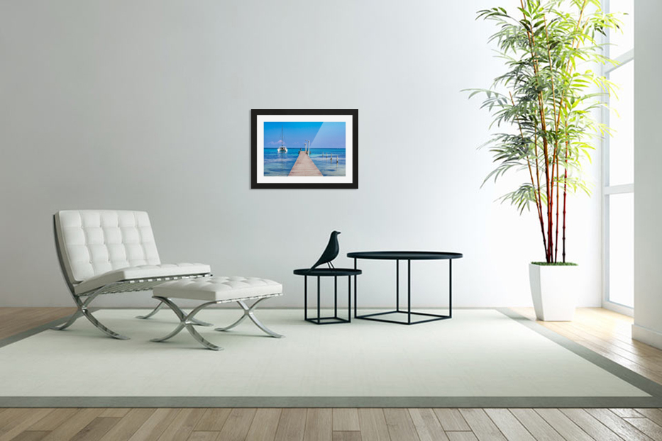 Ambergris Caye 1 in Custom Picture Frame