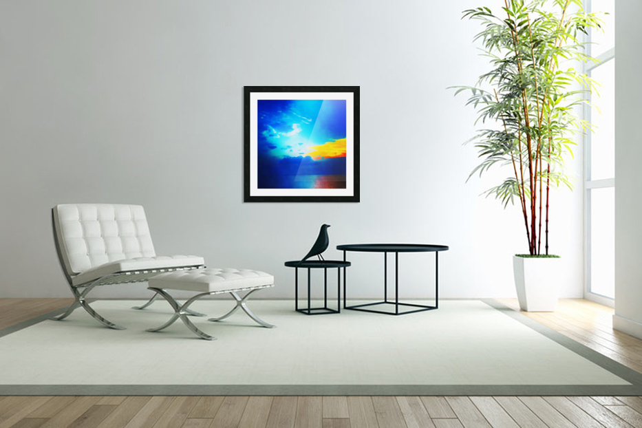 blue yellow magic in Custom Picture Frame