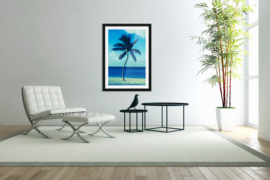 palm color 6 in Custom Picture Frame