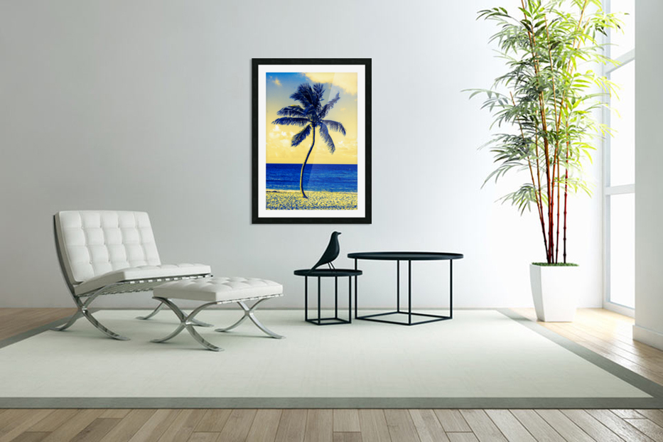 palm color 4 in Custom Picture Frame