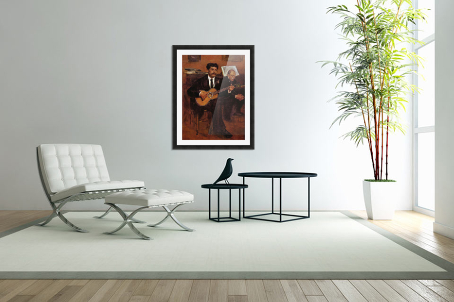 The guitarist Pagans and Monsieur Degas by Degas in Custom Picture Frame