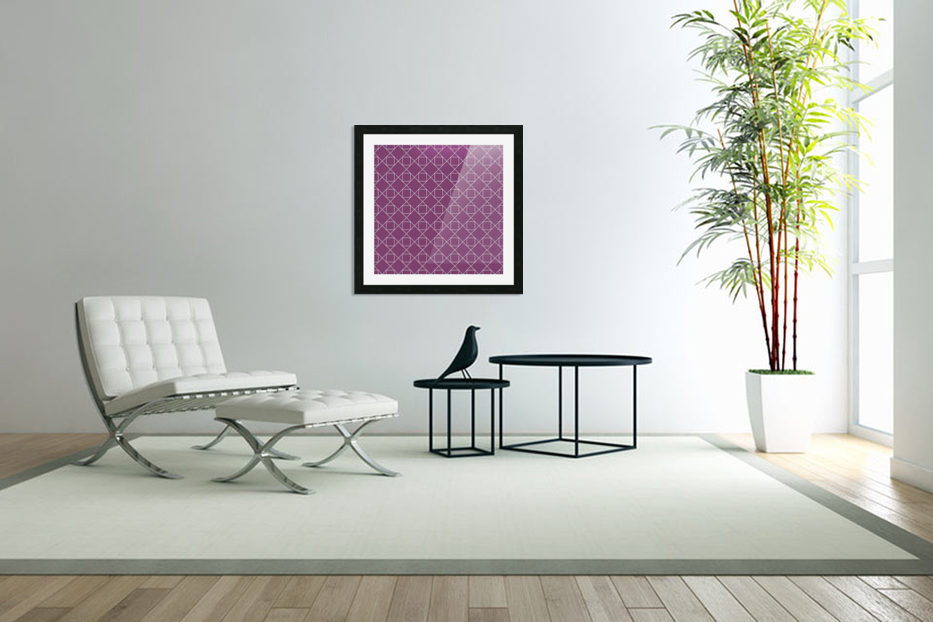 Light Purple Squares And Diamonds Pattern in Custom Picture Frame